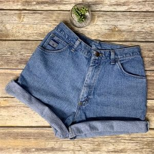 VTG 90s Wrangler Women High Rise Denim Mom Shorts